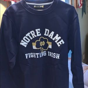 Under Armour Notre Dame crew neck sweatshirt, navy